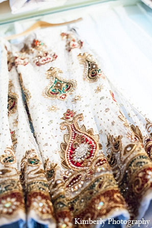 Indian wedding bridal fashion white lengha in Palm Harbor, Florida Indian Wedding by Kimberly Photography