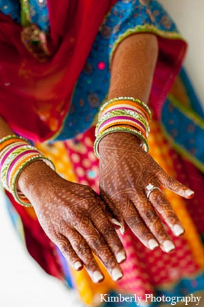 Indian wedding bridal mehndi coloful outfit in Palm Harbor, Florida Indian Wedding by Kimberly Photography