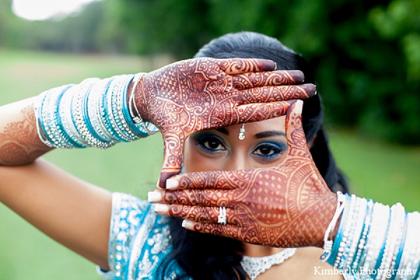 Indian wedding bride makeup mehndi reception in Palm Harbor, Florida Indian Wedding by Kimberly Photography