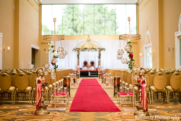 Indian wedding ceremony decor mandap in Palm Harbor, Florida Indian Wedding by Kimberly Photography