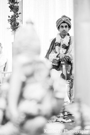 Indian wedding ceremony groom photography in Palm Harbor, Florida Indian Wedding by Kimberly Photography