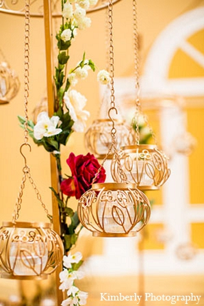 Indian wedding decor ceremony gold in Palm Harbor, Florida Indian Wedding by Kimberly Photography