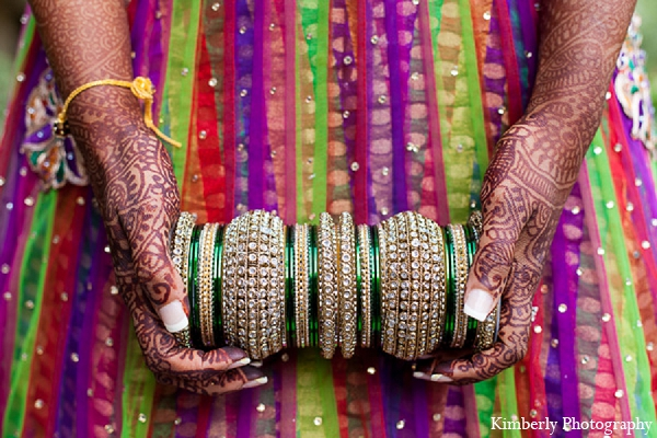 Indian wedding garba bridal lengha bangles in Palm Harbor, Florida Indian Wedding by Kimberly Photography
