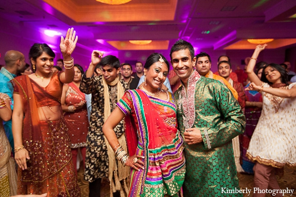 Indian wedding garba night bride groom in Palm Harbor, Florida Indian Wedding by Kimberly Photography