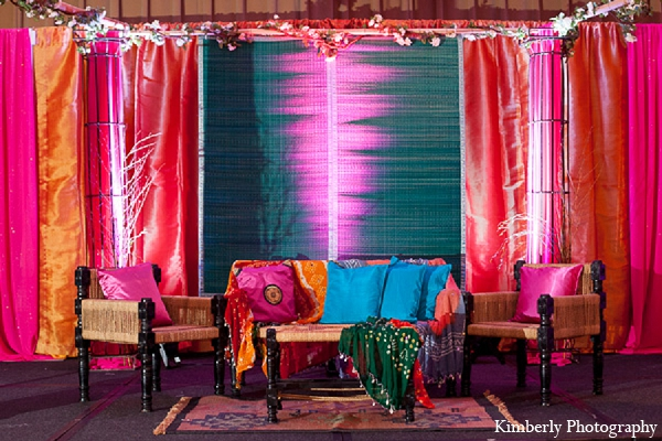 Indian wedding garba night decor sangeet in Palm Harbor, Florida Indian Wedding by Kimberly Photography