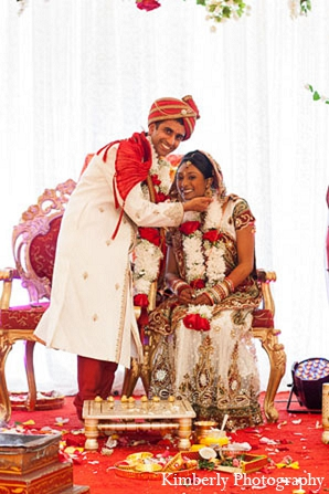Indian wedding hindu ceremony bride groom in Palm Harbor, Florida Indian Wedding by Kimberly Photography
