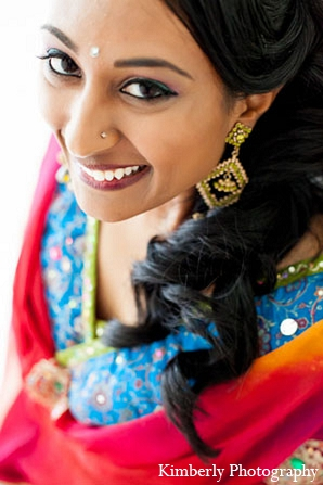 Indian wedding makeup hair bridal fashion in Palm Harbor, Florida Indian Wedding by Kimberly Photography