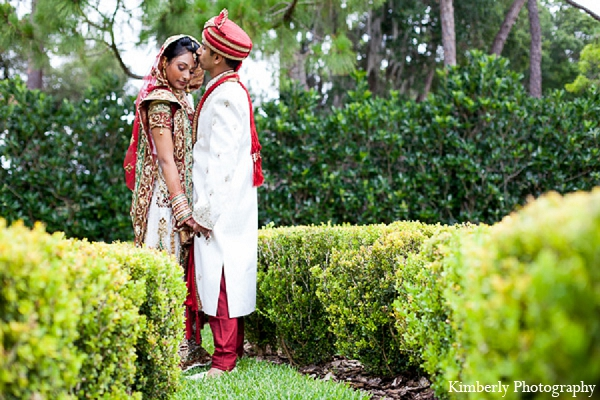 Indian wedding portraits bride groom in Palm Harbor, Florida Indian Wedding by Kimberly Photography