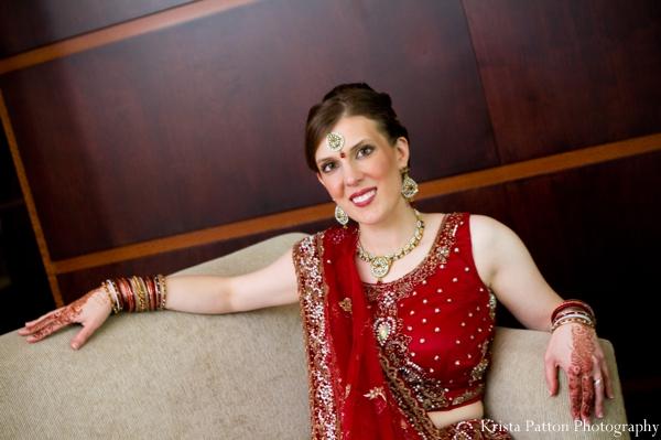Indian wedding bridal portrait lengha fusion bride
