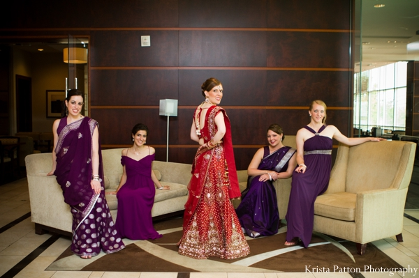 Indian wedding bride bridal party portrait fusion