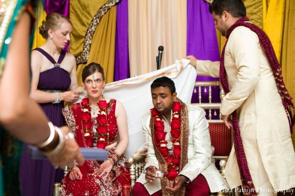 Indian wedding bride groom bride mandap ceremony