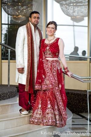 Indian wedding bride groom portrait traditional dress