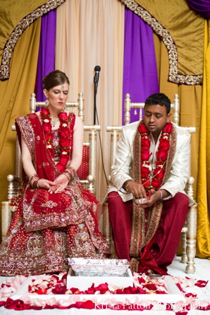 Indian wedding ceremony bride groom mandap
