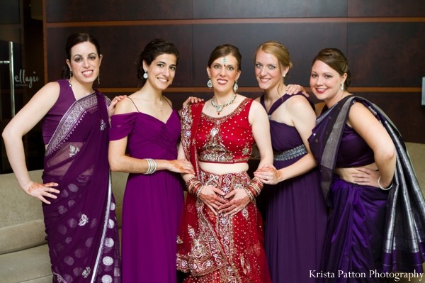 Indian wedding fusion bridal party