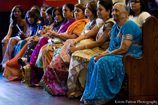 Indian wedding fusion ceremony church guests