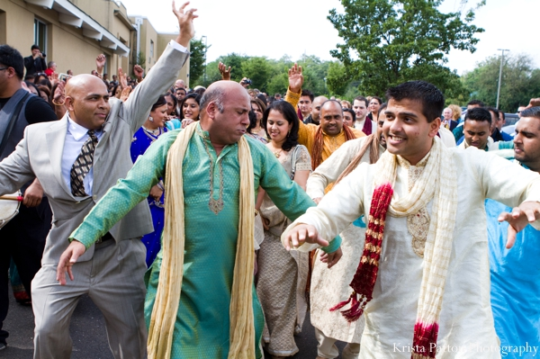 Indian wedding groom celebration baraat dancing
