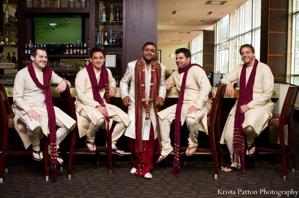 Indian wedding groom groomsmen traditional sherwani