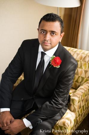 Indian wedding groom portrait fusion ceremony