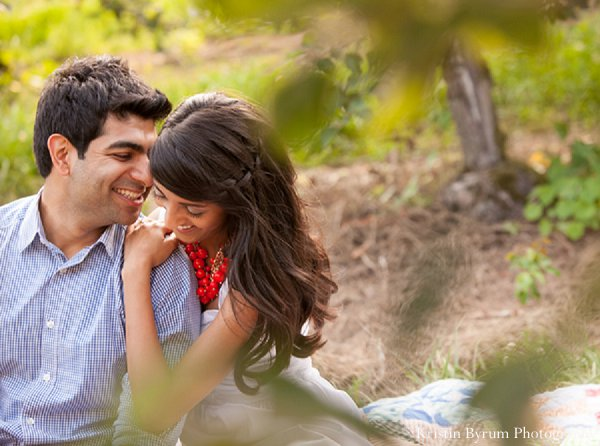 Indian wedding engagement shoot in Sweetheart Sunday Winners ~ Monika & Aakar by Kristin Byrum Photography