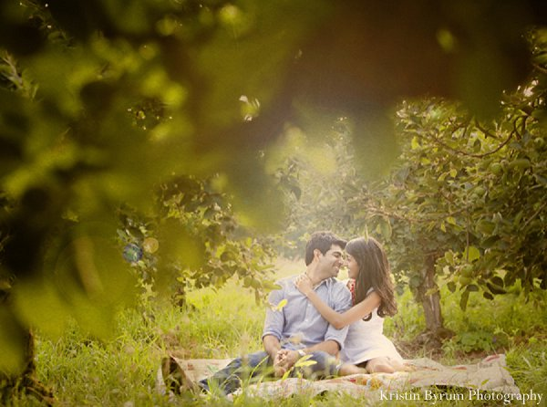 Indian wedding photography engagement in Sweetheart Sunday Winners ~ Monika & Aakar by Kristin Byrum Photography