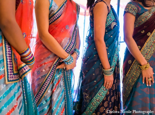 Indian wedding bridal party fashion sari lehnga