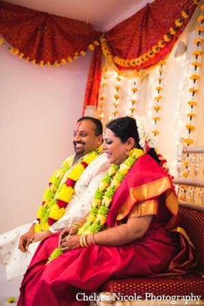 Indian wedding bride groom mandap ceremony