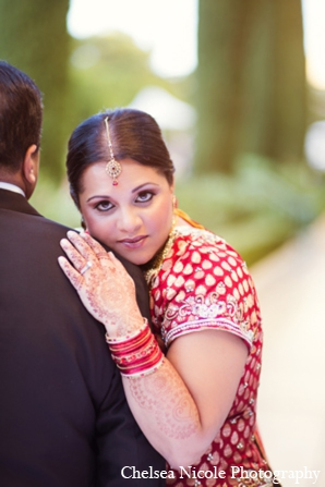 Indian wedding bride portrait mehndi jewelry