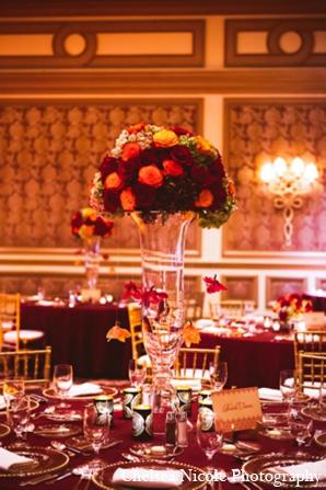 Indian wedding centerpiece table setting decor