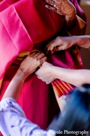 Indian wedding fashion bride sari lehnga red