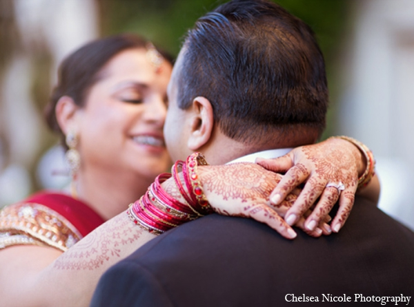Indian wedding portrait mehndi red gold
