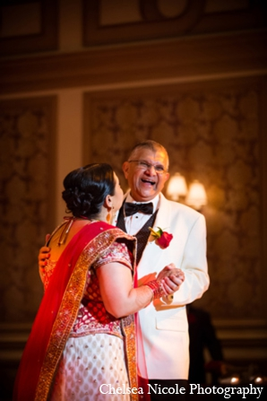 Indian wedding reception bride father dance