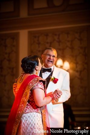 Indian wedding reception bride father dance