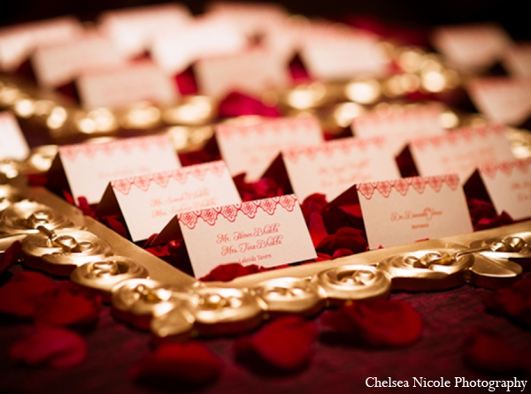 Indian wedding reception decor stationary