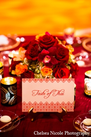 Indian wedding reception stationary catering decor