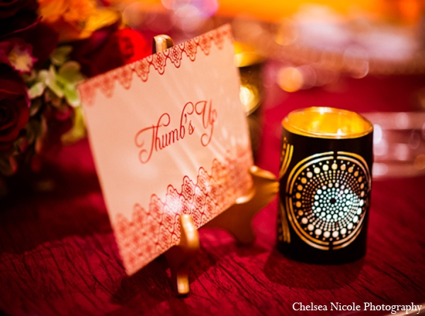 Indian wedding reception stationary lighting decor