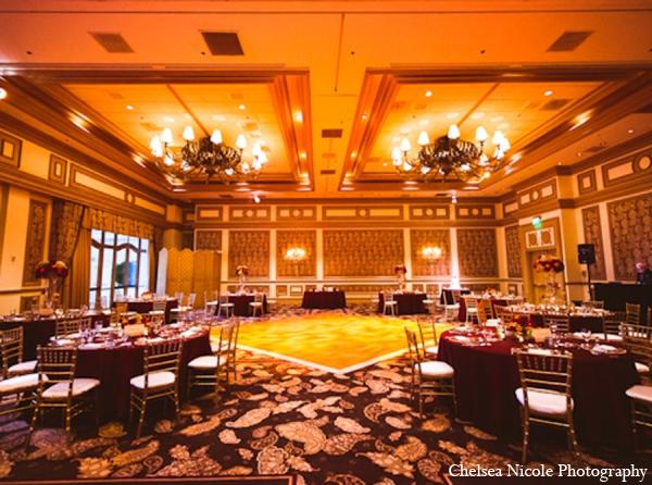 Indian wedding reception venue design decor maharani for Wedding venue design ideas