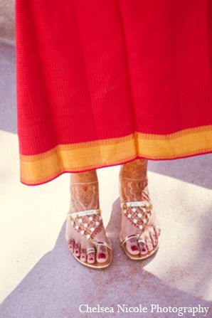 Indian wedding shoes gold red lehnga sandal
