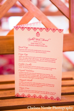 Indian wedding stationary ceremony red white