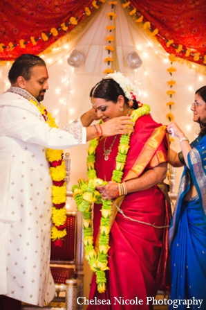 Indian wedding tradition mandap floral bride