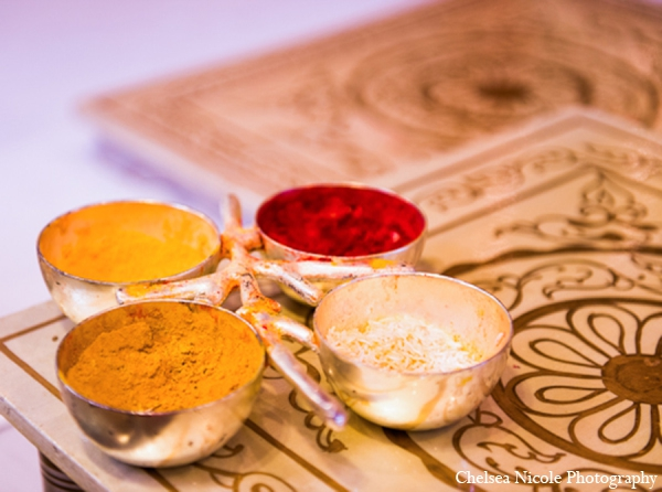 Indian wedding tradition spices ceremony
