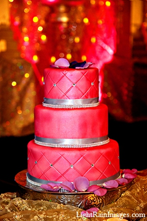 Indian cake wedding reception decor in Phoenix, Arizona Indian Wedding by LightRain Images