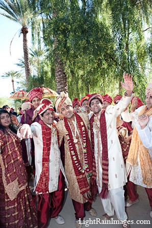 Indian wedding baraat ceremony photography in Phoenix, Arizona Indian Wedding by LightRain Images