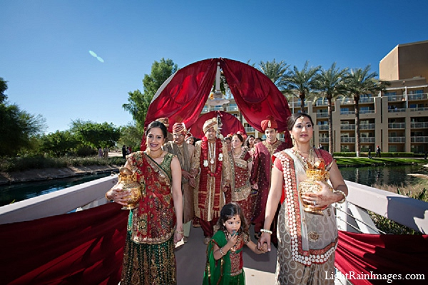 Indian wedding baraat groom photography in Phoenix, Arizona Indian Wedding by LightRain Images