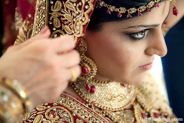 Indian wedding bridal fashion makeup in Phoenix, Arizona Indian Wedding by LightRain Images