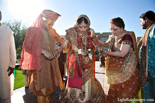 Indian wedding bride ceremony photography in Phoenix, Arizona Indian Wedding by LightRain Images