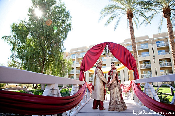 Indian wedding bride groom portraits in Phoenix, Arizona Indian Wedding by LightRain Images
