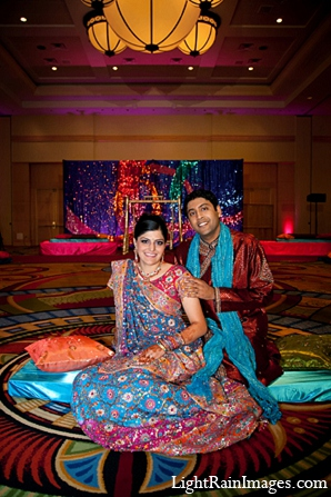Indian wedding bride groom sangeet in Phoenix, Arizona Indian Wedding by LightRain Images