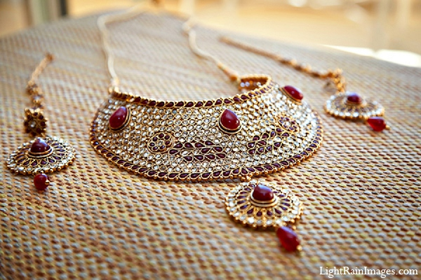 Indian wedding bride jewelry photography in Phoenix, Arizona Indian Wedding by LightRain Images