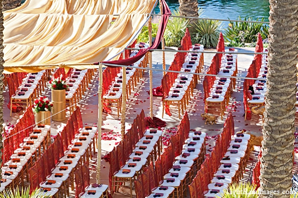 Indian wedding ceremony decor venue in Phoenix, Arizona Indian Wedding by LightRain Images