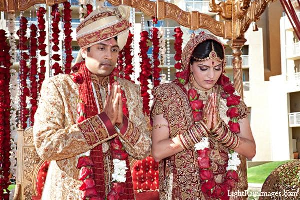 Indian wedding ceremony groom bride in Phoenix, Arizona Indian Wedding by LightRain Images